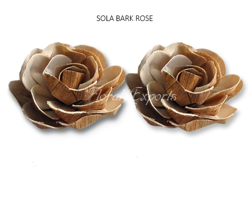 SOLA BARK ROSE - BALSA WOOD FLOWERS WHOLESALE