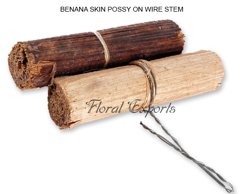BENANA SKIN POSSY ON WIRE STEM