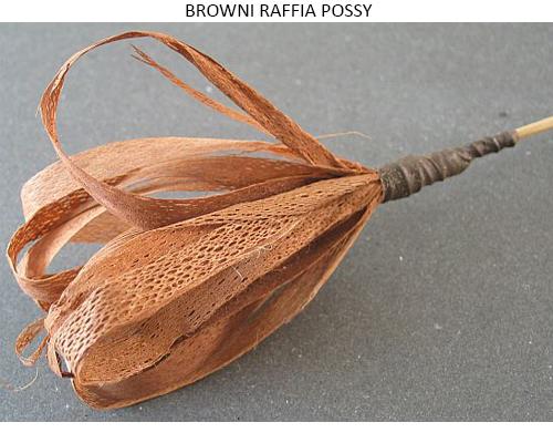 BROWNI RAFFIA POSSY