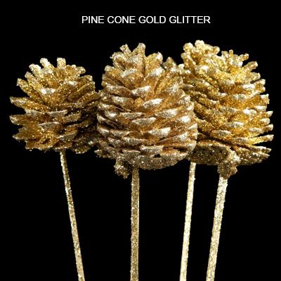 PINE CONE GOLD GLITTER